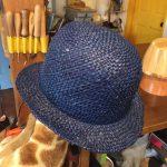 麦わら帽子ブルー