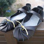 外履き シューマイ靴黒