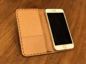 手縫いで作るiPhone7・7plusケース