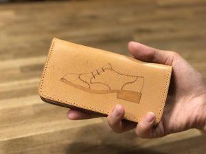 ◆ 牛ヌメ革の iPhone7・7plusケースに電気ペンで好きな絵を描こ◆ ¥4,000