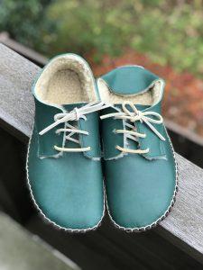 ◆ あたたか手縫いの外履き靴 ◆みどり