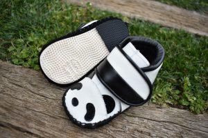 パンダの子ども靴 底から