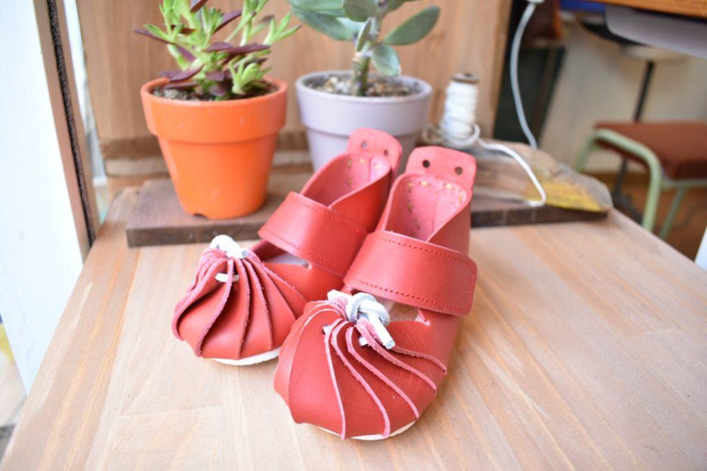 しゅうまい子ども靴 赤
