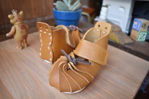 しゅうまい子ども靴 キャメル