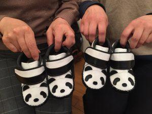 パンダの子ども靴