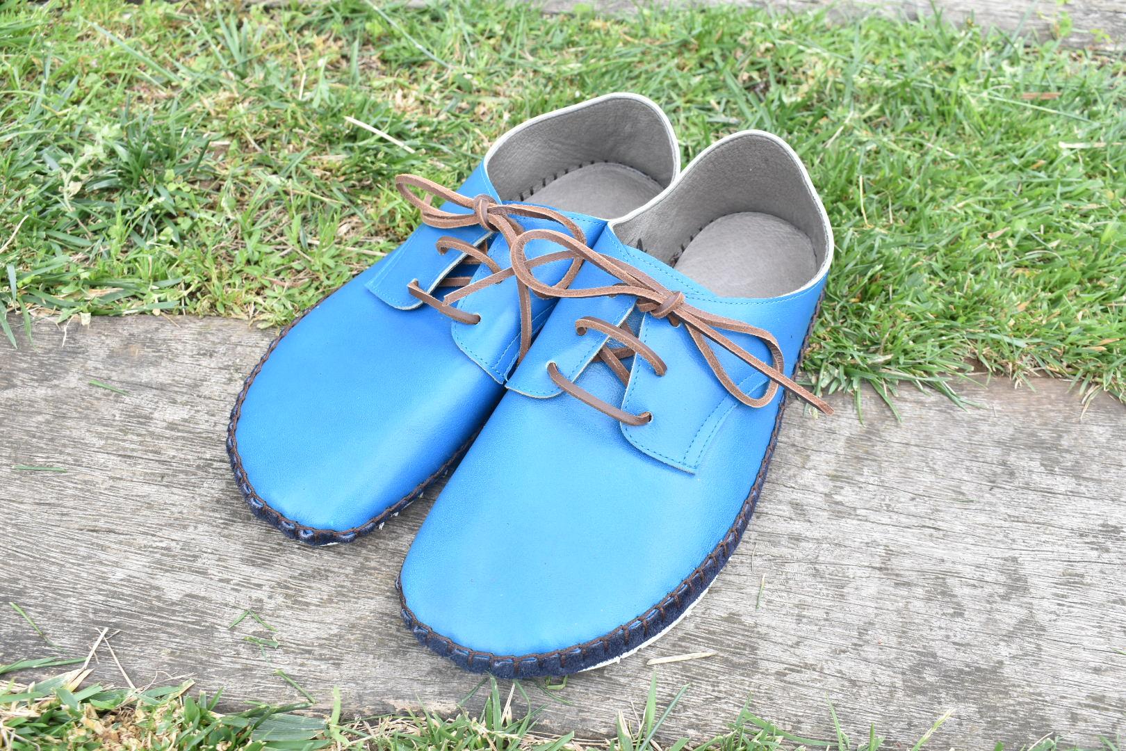 外履きひも靴・ターコイズ