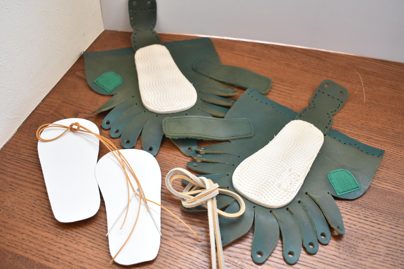 自宅にお届けワークショップ しゅうまいベビー靴キット内容