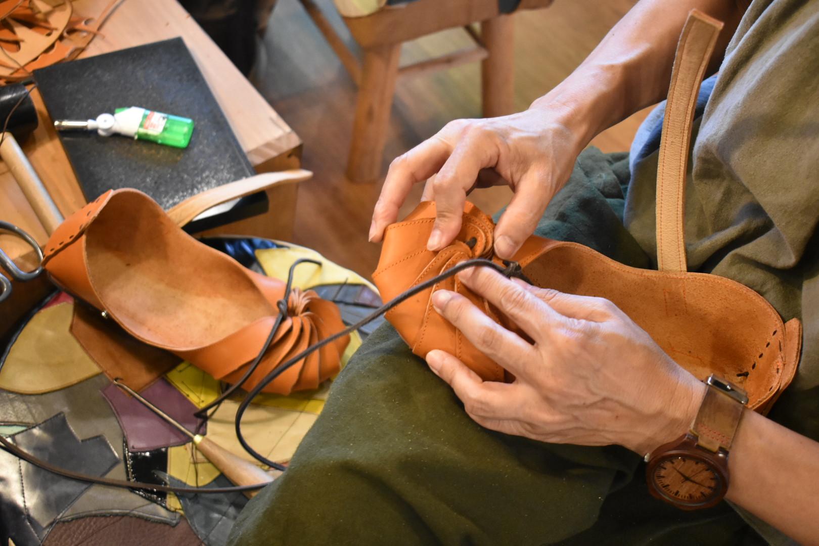 自宅にお届けワークショップ しゅうまい靴作り