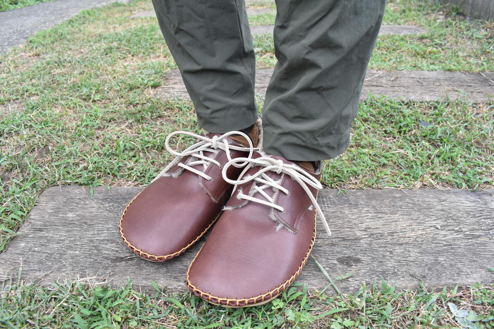 ボア外履きひも靴